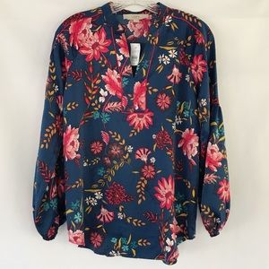 Loft Floral Tunic Top NWT